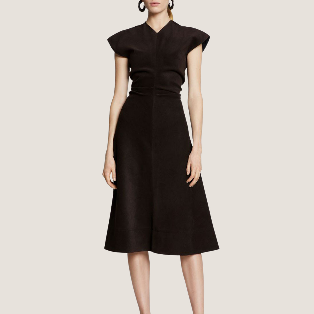 Brushed Dress - Raisin
