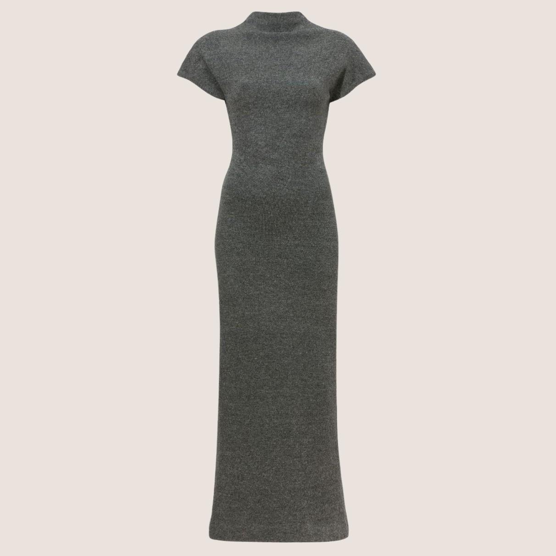 Knit Twisted Turtleneck Dress