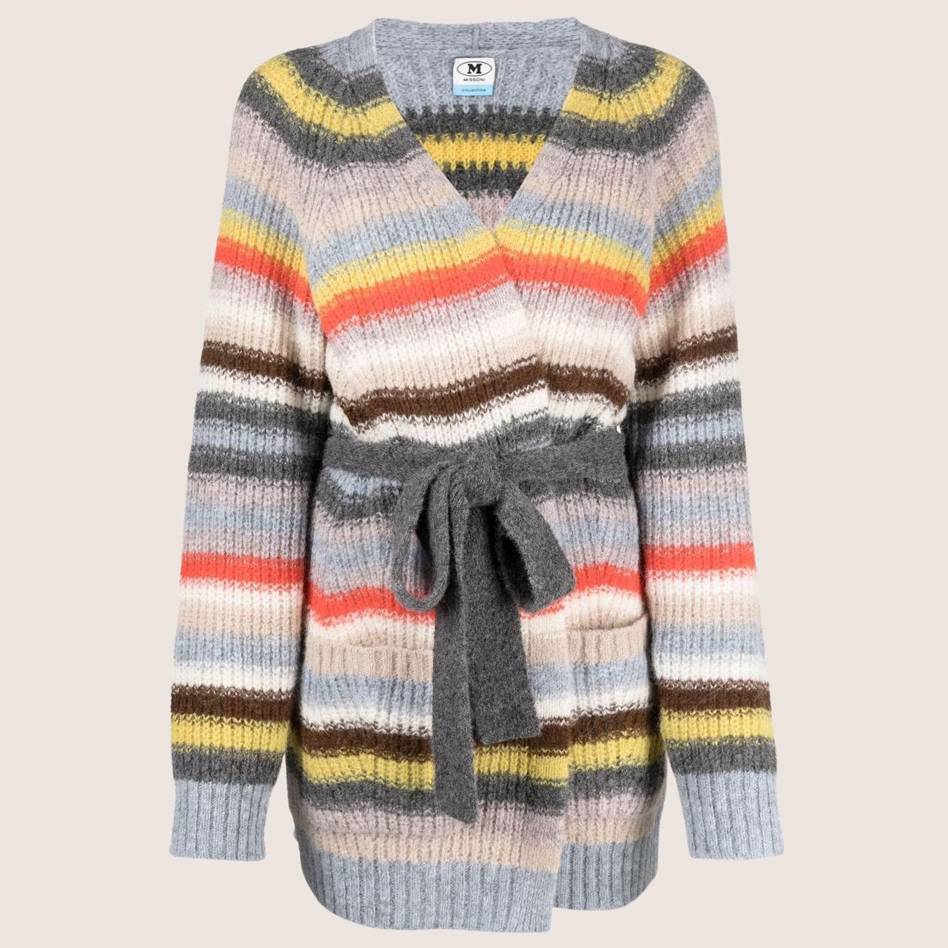 Multi Striped Mohair Cardigan