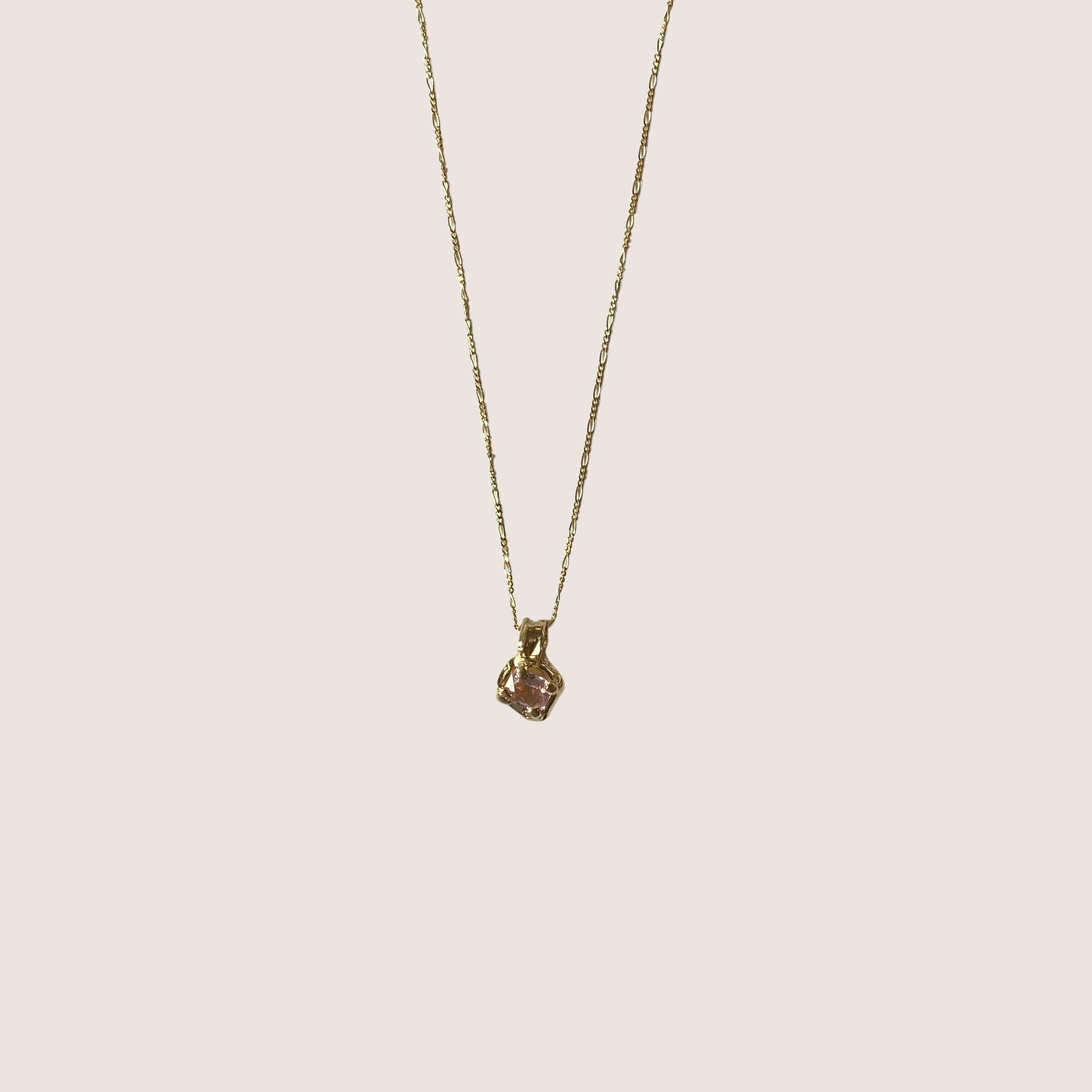 Octagon Sapphire Necklace