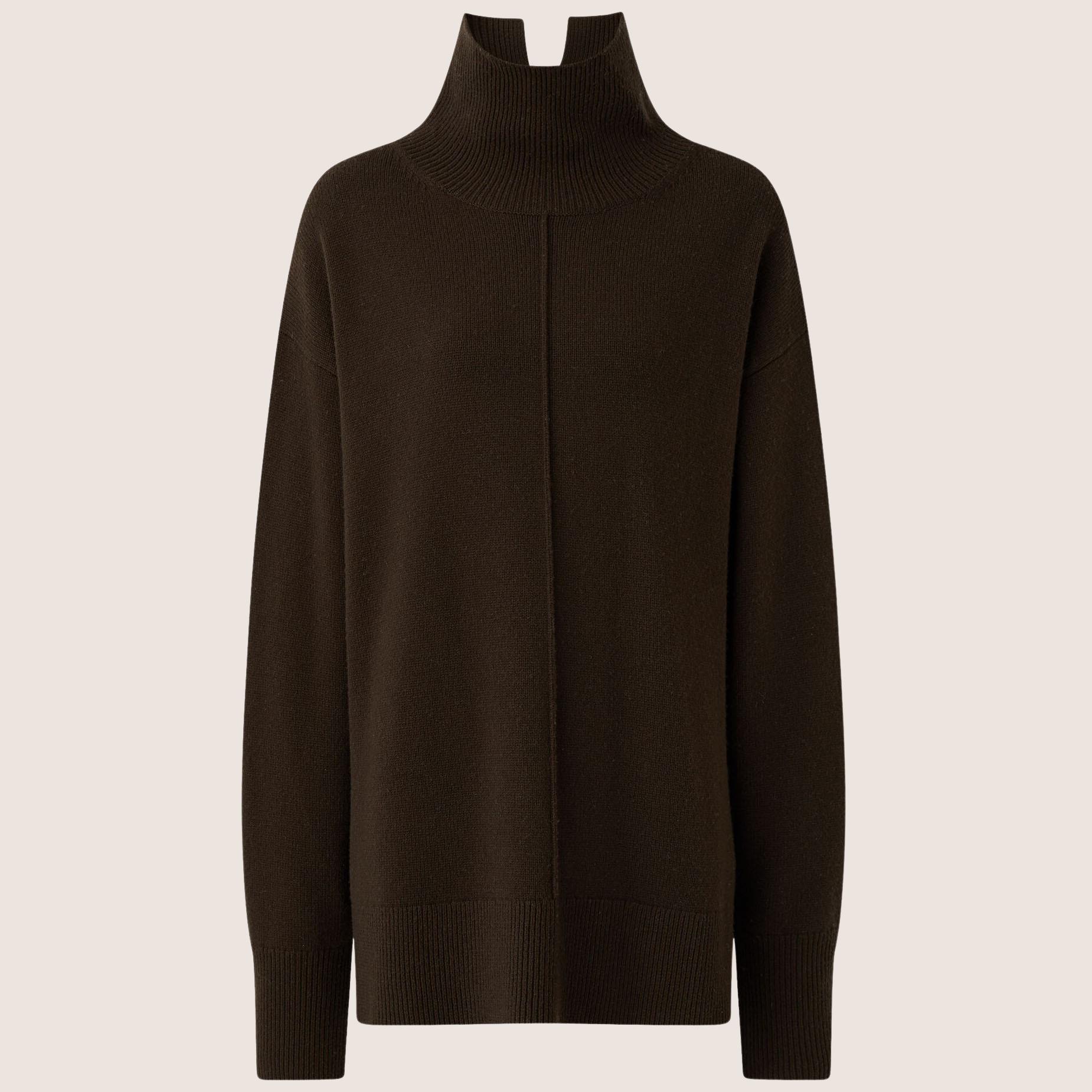 Soft Wool High-Neck Sweater