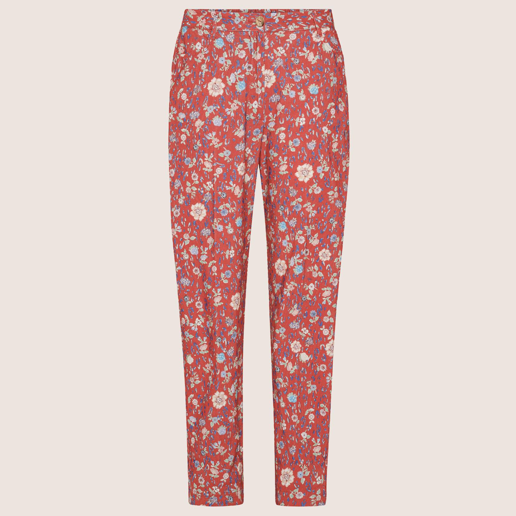 Velvet Trousers With Print