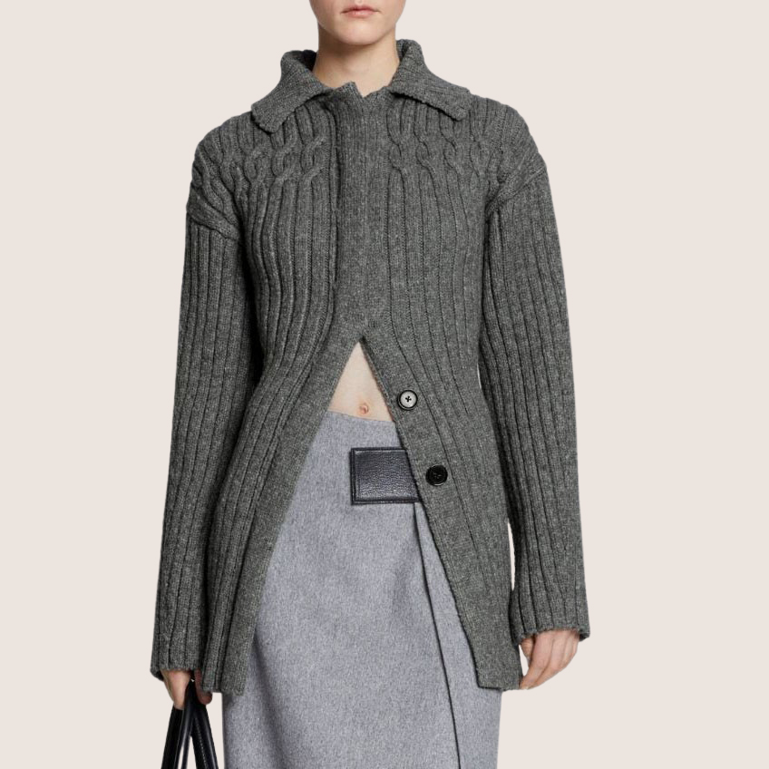 Cable Knit Cardigan Jacket