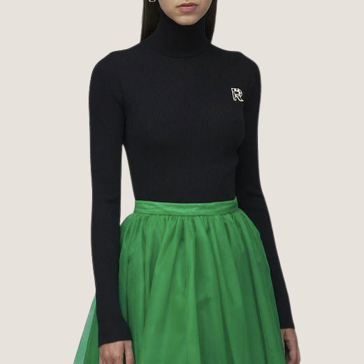 Seamless Turtleneck Sweater