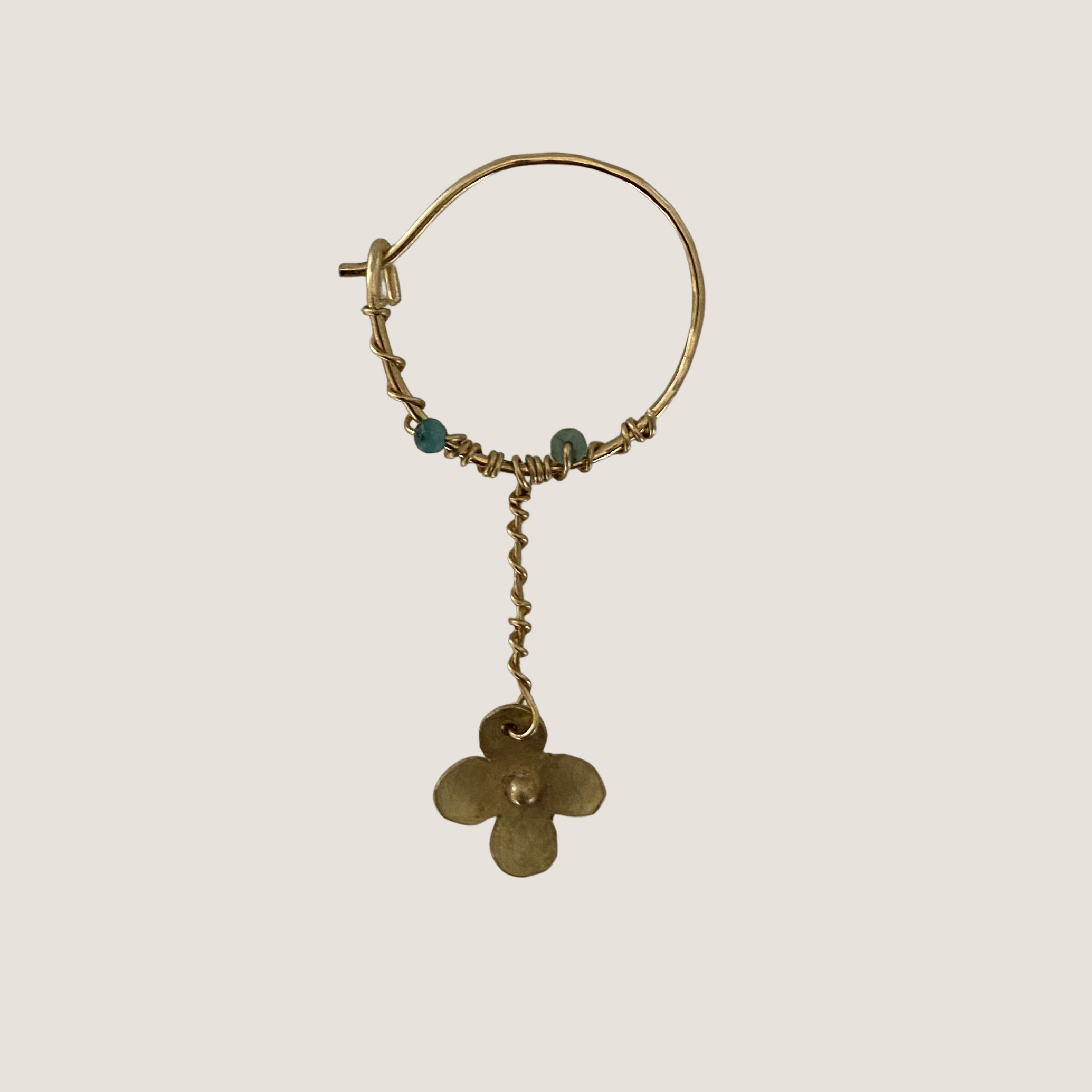 Short Chain Flower Earring