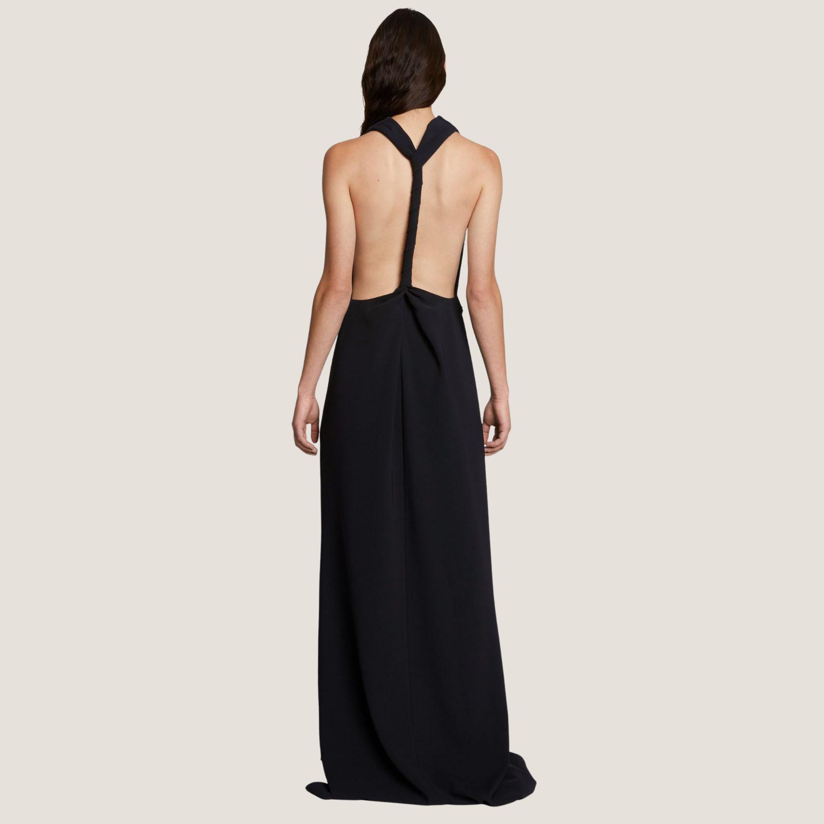 Matte Crepe Backless Dress